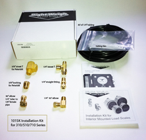 """With this 101-SK Right Weigh Install Kit, you can seamlessly install the 250, 310 and 510 Series Load Scales. In order to complete the installations, the kit includes fittings, zip ties and a 30"""" airline. 