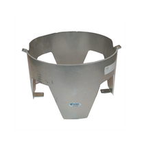 This In The Ditch Aluminum Wrecker Trash Can Mount is built to last. The four pre-drilled mounting holes make it easy to install on any flat surface, including the deck of a wrecker.  - Holds up to a 4-gallon trash can  - Material thickness: 0.125 in. | OEM Part Number: ITD1050