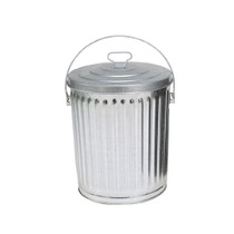 Trash Can 4 Gallon Galvanized with Lid 1104,ITD,In The Ditch Prod.