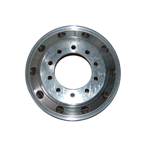"""Get reliable performance with this Aluminum Wheel with unpolished inside. The hub piloted rim features dual mounting with 10 bolt holes and a machined finish for large commercial vehicles.  - Dimensions: 22.5"""" x 9""""  - Weight: 60 lbs.  - Offset: 7"""" 