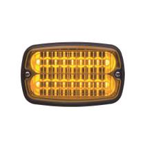 Strobe LED Flasher Yellow w/ White Lens