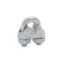 """This Wire Cable Clamp creates an eye or loop to help secure wire rope. It's constructed of a steel U-bolt and nuts with a flexible iron saddle for durability, and the torque value meets Federal Specifications FF-C-450D, Type 1 and Class 2.  - Dimensions: 0.625"""" x 0.625""""   OEM Part Number: 3230BC"""