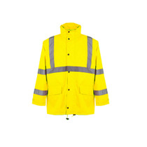 Class 3 Economy Rain Coat High visibility Economy rain suit comes with both an ANSI Class 3 jacket and ANSI Class E pants that utilize top performance at an entry-level price.