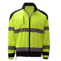 Premium Class 3 Zipper Windbreaker Jacket with Black Bottom New designed premium windbreaker is a great garment for outdoor activities. Black ripstop fabric increases the durability of garment. Class 3 / Leaders / Safety Sweatshirt / Safety Windbreaker