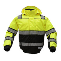 GSS Safety ONYX 3-in-1 Lime Waterproof Ripstop Bomber Jacket