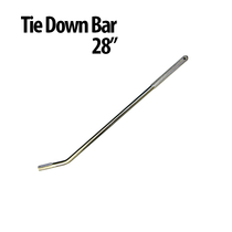 Secure cargo for transport with this Tie Down Bar. Its textured grip improves comfort and keeps your hands from slipping, and it works with various strap ratchet assemblies.