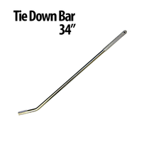 Use this Tie Down Bar to secure a vehicle to an auto transporter. It's made of chrome-plated steel for durability and has a textured hand grip for secure operation.