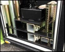 STORAGE, ROTATOR:  TIRE LIFT/BUS ARMS/RATCHETS  Jerr-Dan PN  1001170960S                                                          - Ratchet Storage Bracket  - Ratchet Tray Small Channel  - Ratchet Tray Large Channel  - Ratchet Tray Small Pad  - Ratchet Tray Large Pad  - Bus Arm Storage Accessory  - Hardware