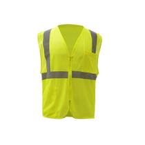 GSS Class 2 Mesh Zipper Vest, Lime