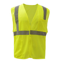 GSS Class 2 Mesh Hook & Loop Safety Vest, Lime
