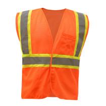 GSS Class 2 Mesh 2-Tone Hook & Loop Vest, Orange