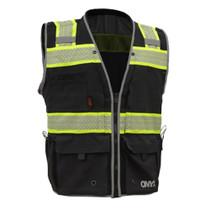GSS ONYX Class 2 Ripstop Safety Vest, Black