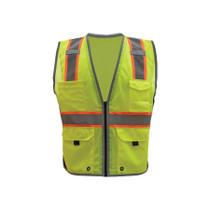 GSS Class 2 Hyper-Lite Vest with Black Sides, Lime