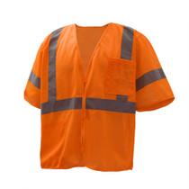 GSS Class 3 Mesh Zip Vest, with Sleeves, Orange