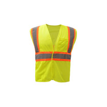 """Class 2 Fire Treated Hook & Loop Closure Vest Lime  GSS 