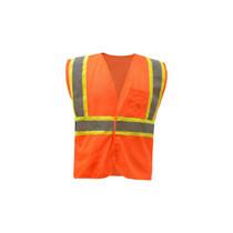 Class 2 Fire Treated Hook & Loop Closure Vest, Orange