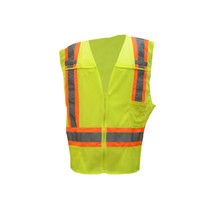 Class 2 Two Tone Fire Treated Breakaway Vest Lime