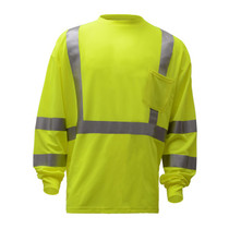 """Class 3 Moisture Control Long Sleeve T Lime  GSS 