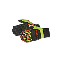 DAYBREAKER® Striker V™ - impact glove  TPR at back hand, finger, and finger tips for impact absorption. Premium quality synthetic leather Non-slip SBR G-patch palm (with foam padding), thumb crotch, and fingertips reinforcement. Double stitched cuff for extra durability. Neoprene cuff with pull tab for easy on and off.
