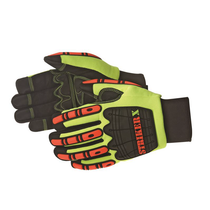 DAYBREAKER® Striker X™ 3M Thinsulate® and Raotex® waterproof lining impact glove.  TPR at back hand, finger, and finger tips for impact absorption. Premium quality synthetic leather Non-slip SBR G-patch palm, thumb crotch, and fingertips reinforcement. Lining 3M Thinsulate® C40 Raotex® waterproof lining Double stitched cuff for extra durability. Neoprene cuff with pull tab for easy on and off.