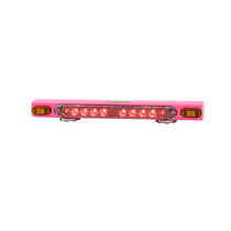 """21"""" Pink wireless magnetic taillight system w/ supplemental amber indicators provides stop, tail, and turn signals with ease. Twenty dollars from each unit purchased will be donated to the Susan G. Komen foundation for breast cancer research and awareness."""