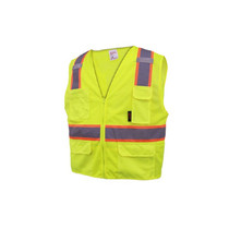 100% Polyester Mesh Material, Zipper closure, 6 Pockets: Right Chest 2-Tier Pencil Pocket, Left Chest Phone Pocket
