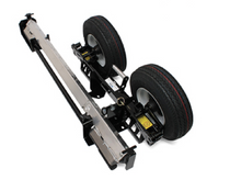 Low profile all-in-one that holds a speed dolly frame, axle and break over bar. MADE IN THE USA.