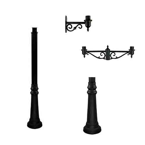 Commercial Post Top Lantern Poles and Mounting