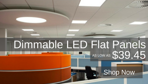 LED Dimmable flat panel 2x2 1x4 2x4