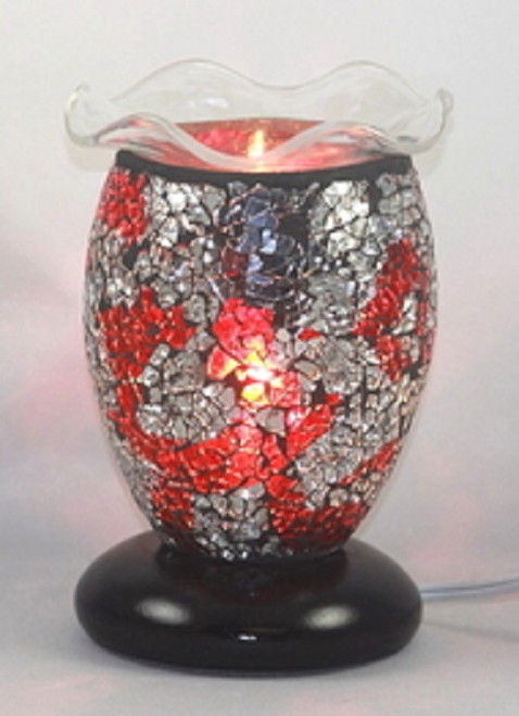 Red and Silver Mozaic Electric Oil Burner