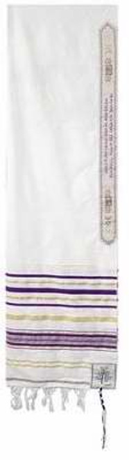 "Prayer Shawl-Purple w/Bag (72"" x 22"")-Acrylic"