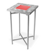 X-Cube Aluminum Tables with Swirl Top & LED light Kit options