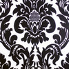 Alterio Black & White Damask Chiavari Chair Cushion Cover