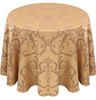 Chopin Damask Tablecloth Linen-Camel