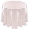 Shimmer Crush Fabric Tablecloth Linen-White