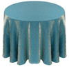 Shimmer Crush Fabric Tablecloth Linen-Turquoise Gold