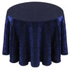 Shimmer Crush Fabric Tablecloth Linen-Royal Black