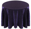 Shimmer Crush Fabric Tablecloth Linen-Purple Black