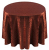 Shimmer Crush Fabric Tablecloth Linen-Copper Black