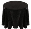 Shimmer Crush Fabric Tablecloth Linen-Black