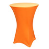 "Spandex Cocktail Table Linens for 30"" Round Top in 42""Height-Orange"