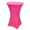 "Spandex Cocktail Table Linens for 30"" Round Top in 42""Height-Fuchsia"