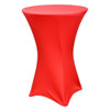 "Spandex Cocktail Table Linens for 30"" Round Top in 42""Height-Red"
