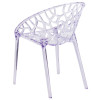 Tree of Life Specter Series Transparent Stacking Side Chair