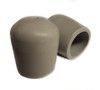 "100 pk. Gray USA Made Non-Marring Plastic Foot Cap Glides for Rental Style Plastic Folding Chairs, Fits 3/4"" OD Tube"