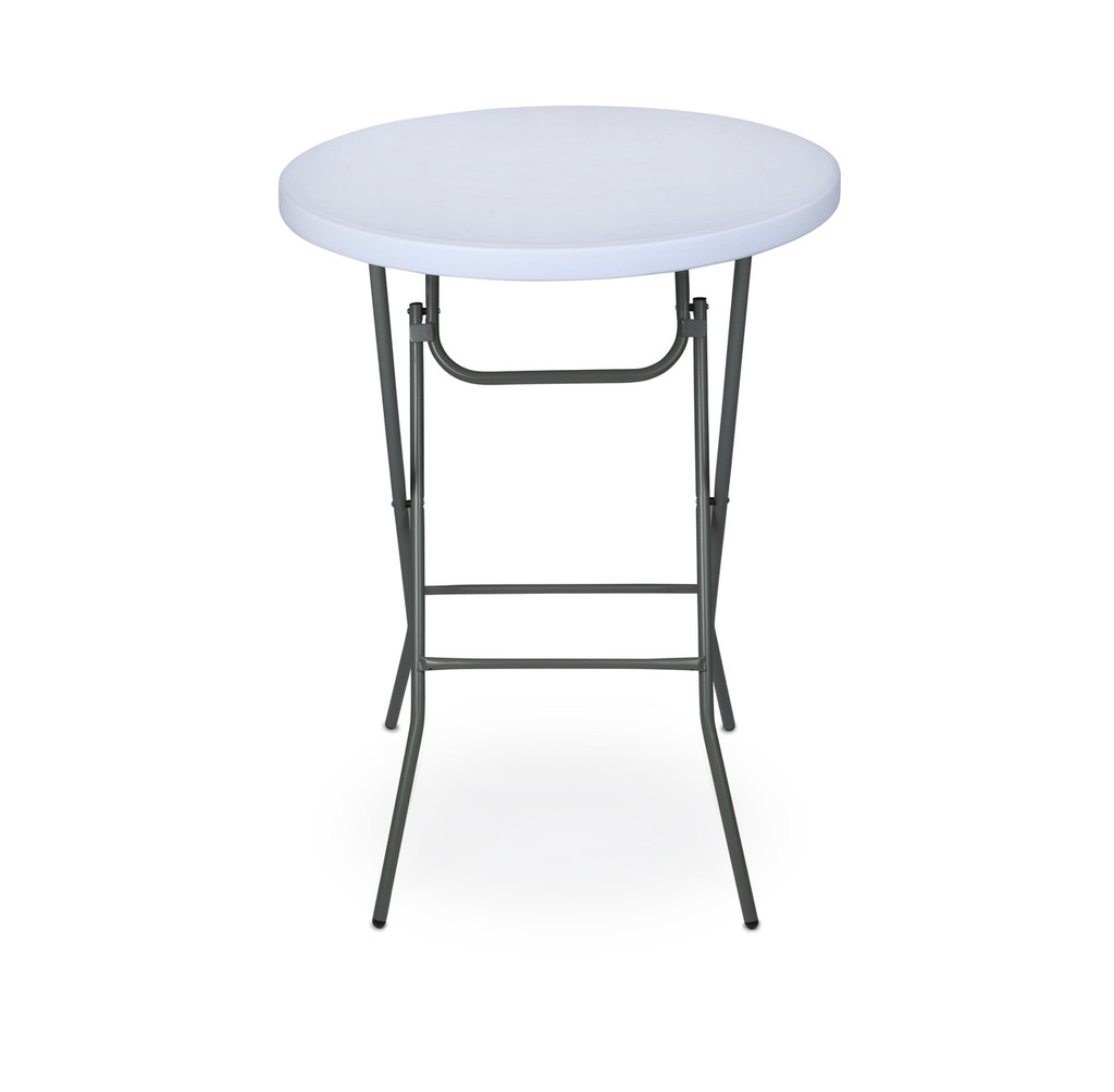 classic series 32 round plastic folding high top cocktail table 42 bar height folding steel. Black Bedroom Furniture Sets. Home Design Ideas