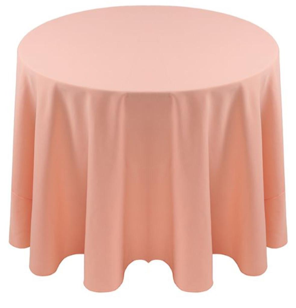 ... Spun Polyester Tablecloth Linen Peach ...