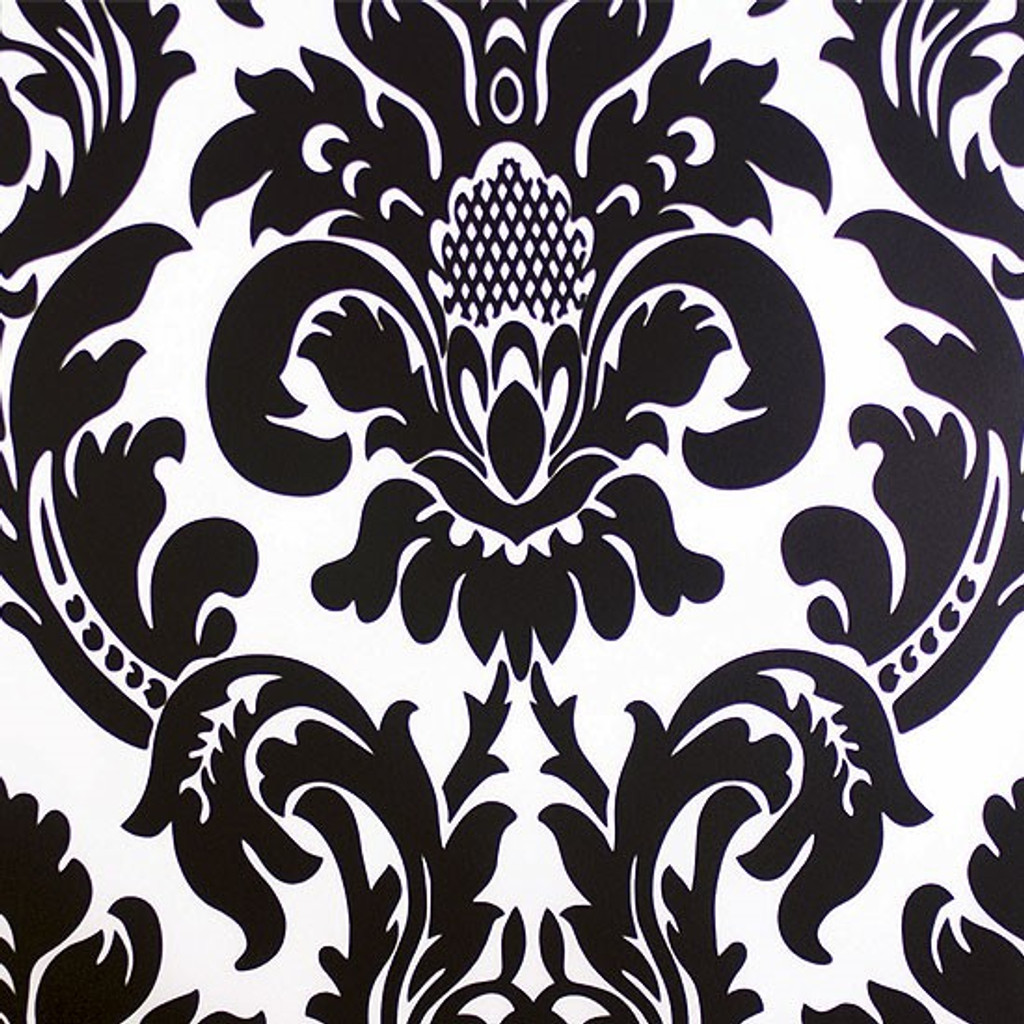 Alterio Black & White Damask Chiavari Chair Cushion Cover