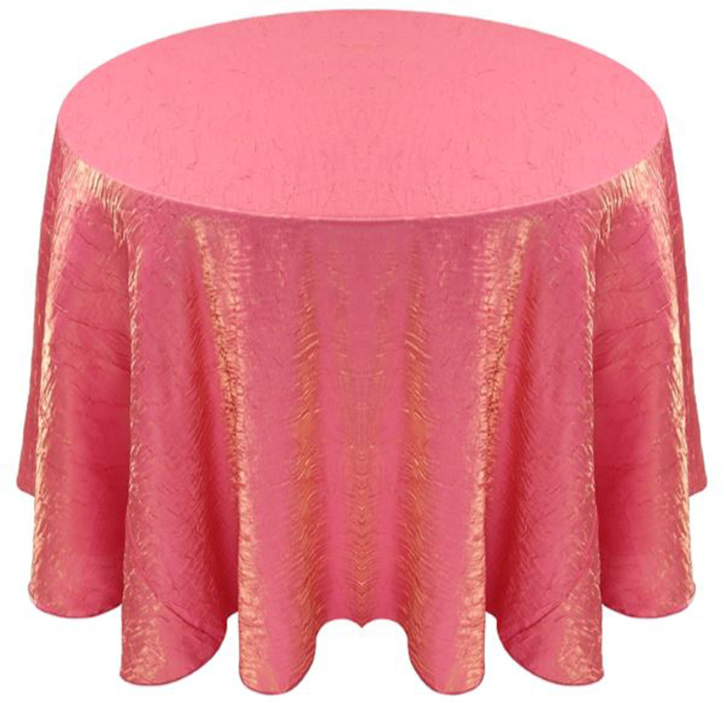 Shimmer Crush Fabric Tablecloth Linen-Watermelon