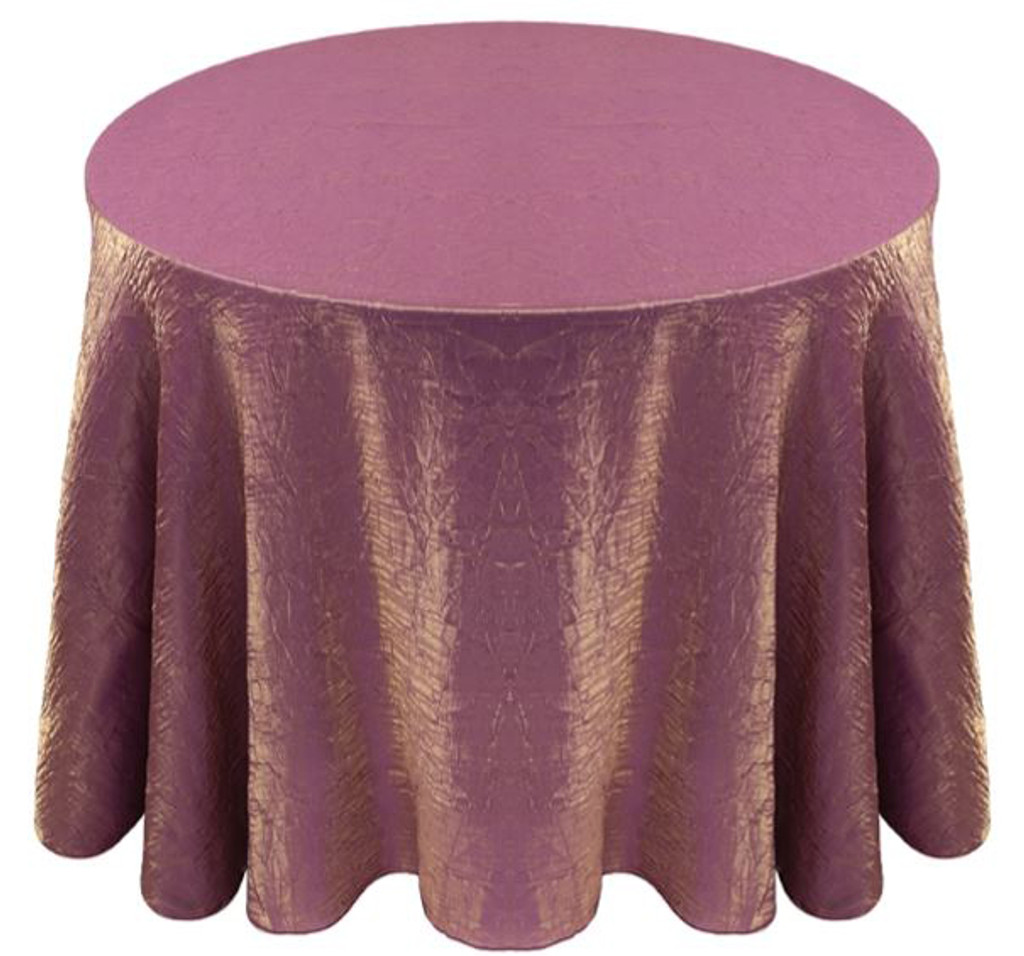 Shimmer Crush Fabric Tablecloth Linen-Violet Gold